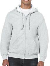New Gildan Heavy Blen Men's Full Zip Hooded Sweatshirt Size large