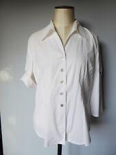 Gérard DAREL chemisier chemise blanche manches courtes T 42 44 parfait état