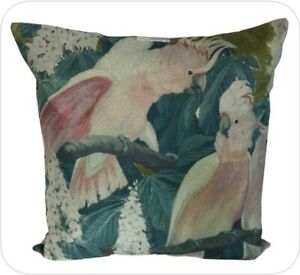 """Feature Cushion Cover - 45cm Square - Traditional - Birds - Kushun - 18"""""""