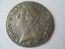 FRANCE SILVER ECU COIN LOUIS XV DATED 1767 MINTMARK  ' L'  BAYONNE VF+