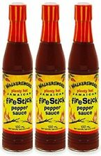 3 walkerswood plenty hot jamaican fire stick pepper sauce 100ml
