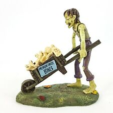 Dept 56 Halloween Village Bringing the Bones Zombie w/ Wheelbarrow 6000670 New