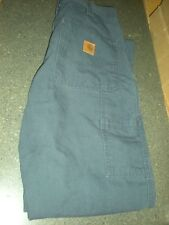 Carhartt 383-20 Dungaree Fit Work Pants 32x32 Dark Blue V Good Condition #5C.20