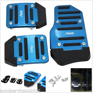 3 Pcs One Set Blue Sport Manual Car Anti-slip Brake Pedal Cover For Honda