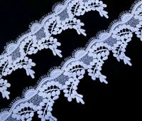 Embroidered Guipures Lace Fabrics Eco-Friendly Polyesters Width 8cm Laces Fabric
