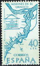 Spain Orinoco River Exploration Mission Map stamps 1964 MLH