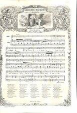 Partition Musicale Musique de Gustave Nadaud Quinze Avril 1863 ILLUSTRATION