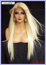 LACE FRONT C PART STRAIGHT WITH SIDE BANG  WIG CLR 613 GORGEOUS SEXY 116