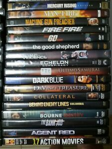 ALL Action Movie DVD's ONLY 2.99 ea & ONE LOW SHIPPING PRICE FOR 1, 5,10 or MORE