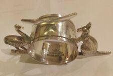 99p No Reserve!! NOVELTY Silver Plated NAPKIN RING AUSTRALIAN EMU & KANGAROO