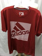 Adidas Ultimate Tee Red Climalite Shirt Men's L