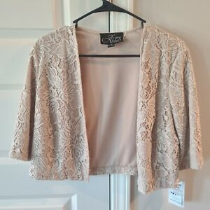 Alex Evening Waist Jacket for Dress, Porcelain Color, Size 12