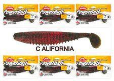 "(6) Unopened Bags Packs Berkley Powerbait 6"" Slim Shad California PBBSLS6-Cali"