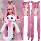 Tsukino Usagi Black Lady Long Pink Styled Horn Cosplay Wig Hair