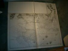 Vintage Admiralty Chart 1922 BRITISH COLUMBIA - FRASER RIVER 1923 edn