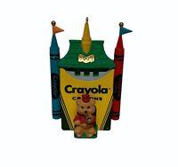 1993 Hallmark Keepsake Ornament Bright Shining Castle Crayola Crayons w/Bear