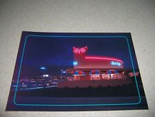 1990s Neon Sign Lights, Owl Cafe, Albuquerque Nm. Vtg Postcard