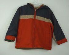 Carters Lightweight Hooded Winter Jacket Size 4 Boys Orange Gray