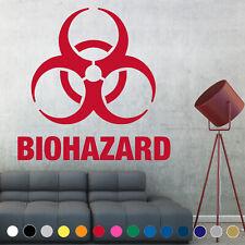 Biohazard Warning Symbol Sign Wall Decal Sticker Door Room House Logo Decor V3