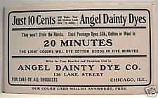 Old Dainty Dye Vintage Chicago Drug Store Ink Blotter 1