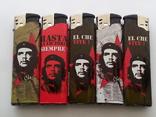 5 x Che Guevara Electric Refilable Lighter