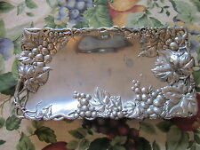 Arthur Court Grapes Vines Leaves Leaf Plate Dish Tray Rectangle 11.5 x 5.75 Thin