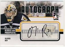 Olivier Roy 09-10 Heroes and Prospects Autograph