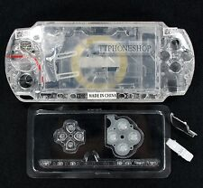 Crystal White Housing Faceplate Case Cover for PSP 2000 (B)