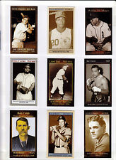 Complete 34 card set Dave Stewart cards Dillinger Lincoln Castro Namath Connors