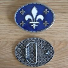 Quebec flag belt buckle