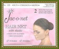 Jac-O-Net  mesh light brown  hair bun chignon mono retro very thin net