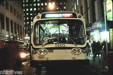 5x7 COLOR PHOTO NYC BUS 1968 BLITZ-REBUILT GM FISHBOWL #5105 Q-32 32-7 12/22/92