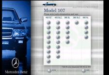 MERCEDES 107 CHASSIS FACTORY SERVICE CD MANUAL 380SL 380SLC 450SL 450SLC 560SL