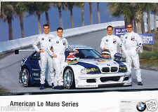 BMW American Le Mans 2000 Race Car Driver Picture Racing signature card Team