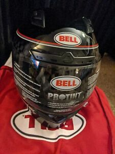 BELL Qualifier DLX Mips Breadwinner Gloss Black/White Helmet Size Medium