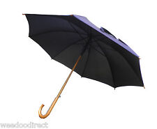 "42"" (107CM) Classic Black Wooden Handle Umbrella(windproof umbrella)"