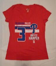 Philadelphia Phillies Womens M GIII 4her Bryce Harper Fair Catch Vneck Tee Shirt