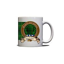 MacArthur Scottish Clan Mug Crest Motto Tartan 11oz Ceramic Coffee Tea Mug