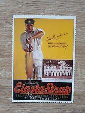 Don Bradman Cricket - Collectable - Vintage Style Postcard - Elasta-Strap