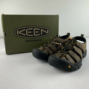 NEW KEEN Newport US 9 Bison Brown Leather Sandal Waterproof Outdoor Hiking Shoe