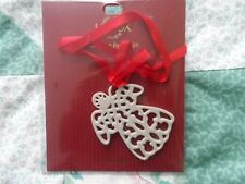 New Pierced Angel 2X2 1/2 Inch Charm from Lenox with Red Ribbon
