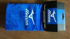 Mizuno Trifold Blue Towel with swivel clip attached