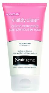 Neutrogena Visibly Clear Cream Nettoyante Pamplemousse Rose 150ml Free Shipping