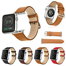 Replacement Genuine Leather Watch Strap Band for Apple Watch Series 3 / 2 / 1
