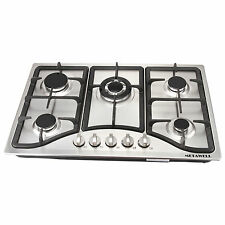 """New listing Metawell 30"""" Built-in 5 Burner Stoves Ng Gas Hob Cooktops Cooker-Stainless Steel"""