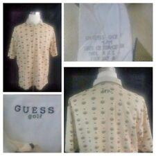 Guess Golf Men's Vintage/Retro 80s 90s 100% Cotton Ivory Color Polo Shirt Sz M