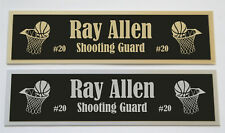 Ray Allen nameplate for signed basketball photo jersey or case