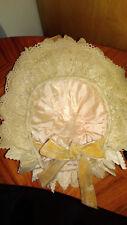 Ancien chapeau de poupée Jumeau soie et dentelles