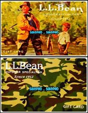 2x L.L. BEAN 2007 2013 FATHER & SON FISHING CAMOUFLAGE COLLECTIBLE GIFT CARD LOT