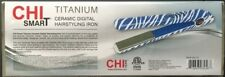 "CHI SMART TITANIUM CERAMIC DIGITAL 1"" HAIRSTYLING IRON - Blue Zebra"